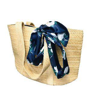 Draper James Everyday Straw Shoulder Tote Bag